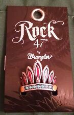 NWT Rock 47 by Montana Silversmith Painted Chief Headdress Tribal Flair Ring O/S
