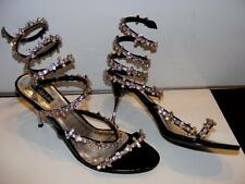 FREDERICKS OF HOLLYWOOD RHINESTONE SPIRAL COIL PUMPS STILETTOS HEELS Shoes Sz 11