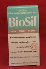 Natural Factors Biosil Hair Skin Nail 60 Veg Caps Advanced Collagen Generator