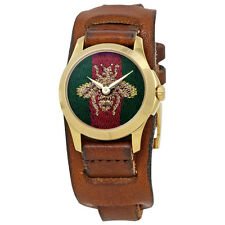 Gucci G-Timeless Green and Red Nylon Dial Ladies Watch YA126547