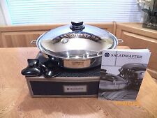 "NEW SALADMASTER 7 QUART 15"" WOK 316Ti TITANIUM SS ~ REDESIGNED NEWEST MODEL"
