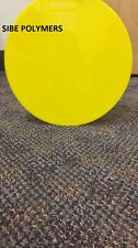 "TRANSLUCENT YELLOW ACRYLIC  1/8"" PLASTIC CIRCLE DISC 4"" DIAMETER (Pack of 2)"
