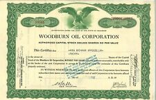 Woodburn Oil Corporation 1928 Delaware old stock certificate share