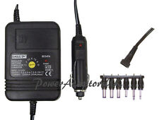 1000MA/1A/1AMP 1.5V/3V/4.5V/6V/7.5V/9V/12V DC CAR POWER ADAPTOR/SUPPLY/CHARGER