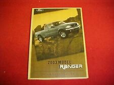 2003 NEW FORD RANGER ORIGINAL OWNERS MANUAL SERVICE GUIDE BOOK 03 OEM PAPER FUSE