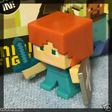 Minecraft Blind Box Figures End Stone Series 6 - ALEX WITH SHIELD - NEW- OOP