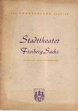 Freiberg = Das Programm Stadt-Theater 161. Spielzeit 1949/50