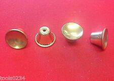 New Vintage 1970's Bell Shape Brass Plated Drawer Pull Knobs Lot of 4 Free Ship