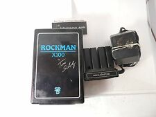 ROCKMAN X100 HEADPHONE AMPLIFIER  TOM SCHOLZ SR&D AMP VINTAGE w/ROCKADAPTER