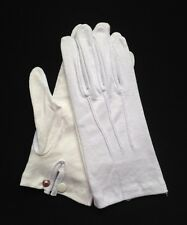 "White Cotton Gloves Snap Wrist ""Sure Grip"" LG (Dozen)"
