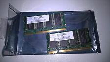 COPPIA DI 2 MODULI MEMORIA RAM 256Mb - PC2700S - CL2.5 - DDR, 333