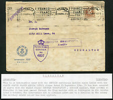 SPAIN: (13187) Spain/military/censor cancel/cover