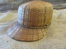 Vintage Weaved Fishing Hat Woman's   Old Antique Fish Nets Equipment Gear 9710