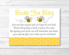 Bumble Bee Baby Shower Book Request Cards Printable