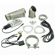 """2.25"""" Manual Electric Exhaust Cutout Downpipe Kit E-Cut Catback Valve System"""