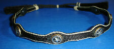 """Western Decor Cowboy HAT BAND Woven 5 Strand Horsehair With Tassels 3/4"""" Wide"""