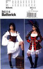 Butterick Sewing Pattern B6114 Women's 14-22 Steampunk Costume Pirate dress 6114
