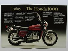 1975 HONDA GL1000 GOLD WING Original SALES BROCHURE Vintage Motorcycle