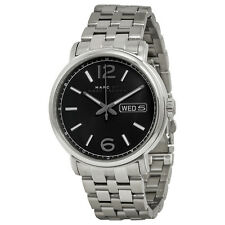 Marc By Marc Jacobs Fergus Black Dial Stainless Steel Mens Watch MBM5075
