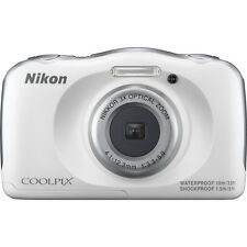 Nikon COOLPIX S33 13.2MP Waterproof Shock-Freezeproof Digital Camera (White)