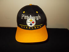 VTG-1990s Pittsburgh Steelers Eastport NFL retro snapback football hat sku9