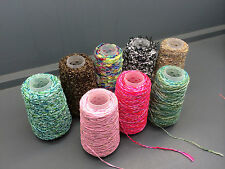 8x100G CONES NICE MIX OF NOVELTY YARNS WOOL / COTTON / NYLON MIXTURES