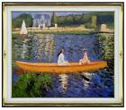 Framed Oil Painting Repro Renoir, Pierre-Auguste Boating on the Seine 20x24in