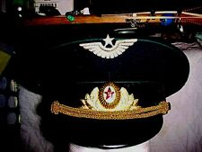 RUSSIAN OFFICER AIRFORCE VISOR HAT SIZE 58