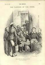 1893 Gladstone Back From Easter Holidays Hamper Channel Tunnel Home-rule Cheese