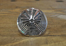 "Sterling Silver Overlay ""Man In The Maze"" Ring by Rick Manuel"