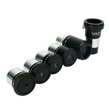 "Plossl Telescope Eyepiece Kit 5pcs Set 6-32mm for Astronomy+1.25""2X Barlow Lens"