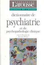 POSTEL DICTIONNAIRE LAROUSSE PSYCHIATRIE PSYCHOPATHOLOGIE + PARIS POSTER GUIDE