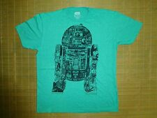 Star Wars Tshirt Mens sz XL Retro R2D2 Droid Green Jedi Rebels Luke Leia Chewy