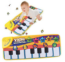 Touch Play Learn Singing Piano Keyboard Music Carpet Mat Blanket Kids Gift Toy