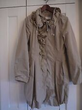 Scervino Street by Ermanno Scervino beige embelished coat, size 8 US, 12 UK, M