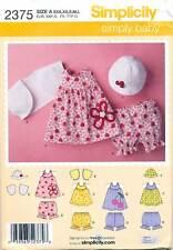 SIMPLICITY SEWING PATTERN 2375 BABY SZ XXS-L DRESSES, TOP, SHRUG, PANTS & HAT