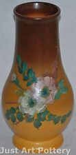 Weller Pottery Hudson Rochelle Vase Decorated with Roses (Pillsbury)