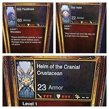 DIABLO 3  2.5 TRANSMOG ITEMS, VERY RARE COSMETIC TRANSMOGS SOFTCORE XBOX ONE