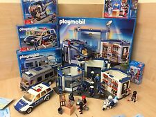 Huge Playmobil Police Station Bundle X6 Boxed Sets 4264 4260 4023 Job Lot Car