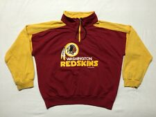 VTG Washington Redskins NFL Football 1/2 Zip Pullover Sweater Shirt Men's sz XL