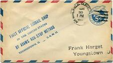 FFC 1929 August 30th First Off. Airmail Drop Adams non-stop Youngstown Cleveland