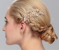 Diamante Bridal Hair Accessories Crystal Hair Pins Pearls Wedding Headdress 1 PC