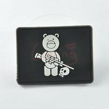 1 X Sniper Bear 3D PVC Rubber Tactical Military Morale Velcro Patch Magic Badge
