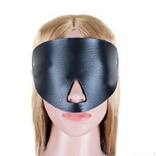PU Leather Fantasy Mask Half Face Eye Mask Blindfold Hood For Adult Couples #JK