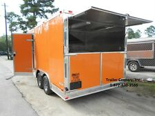 NEW 8.5x16 8.5 X 16 Enclosed Concession Food Vending BBQ Trailer - NEW 2017