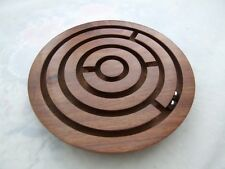 Retro Wooden Labyrinth Maze Game.