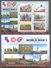 Isle of Man World War I Min sheet & folder mnh-mnh - Military
