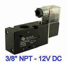 "3/8"" Inch Pneumatic 3 Way Electric Directional Control Air Solenoid Valve 12V DC"