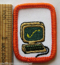 Rare Girl Scout Senior 1983-96 COMPUTERS Interest Project Patch Badge IP IPP NEW