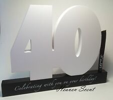 Splosh Happy 40th Birthday Gift Wooden Signature Number Great Gift Idea